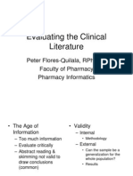 Evaluating the Clinical Literature(1)