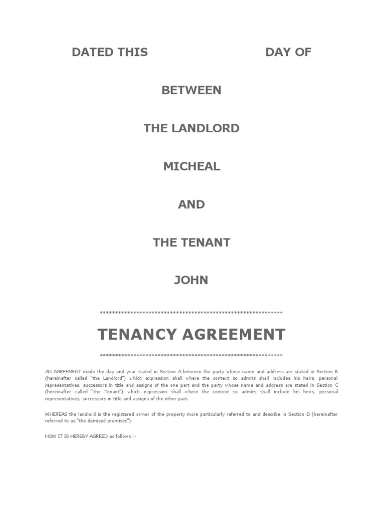 Tenancy agreement malaysia leasehold estate landlord thecheapjerseys Gallery
