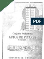 Manual de Convivencia Conjunto Residencial Altos de Pinares