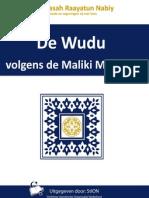 Hoe verricht ik de Wudu volgens de Maliki Madhab