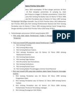 Prolegnas Perkembangan RUU Prolegnas Prioritas Tahun 2010