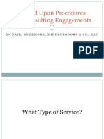Agreed Upon Procedures vs. Consulting Engagements