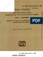 Is 10242 Part 3 Sec 12 1986 Electrical Installations in Ships Part 3 Equipment, Section 12 Choice and Installation of Cables for Low Voltage Systems