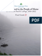 Maine Conservation Voters Report Card on Governor Paul R. LePage, 2010-2012