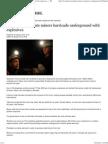 Desperate Miners Barricade Underground With Explosive