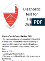 Diagnostic Test for Heart Diseases