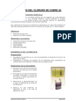 Electrlisis Del Cloruro de Cobre (II)