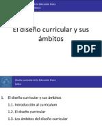 1. El diseño curricular y sus ámbitos