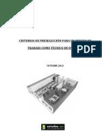 Preseleccion Tecnico Estudios 365