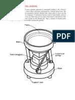 Vibratory Bowl Feeder - Working