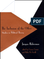 Jürgen Habermas The Inclusion of the Other Studies in Political Theory Studies in Contemporary German Social Thought  1998