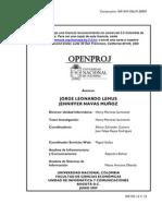 Manual Openproj