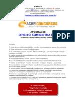 Apostila de Noções de Direito Administrativo para a Analista Administrativo da ANATEL