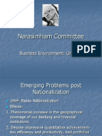 The Narasimham Committee