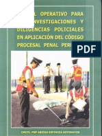 MANUAL OPERATIVO - POLICIAL - PROCESAL PENAL