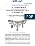 Sotheby's London To Offer The  Personal Jewellery Collection Of Renowned Silver Dealer Michael Wellby On December 11Th 2012