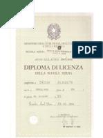 Diploma di licenza della scuola media