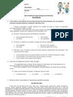 Avaliação 2-3º bimestre-RECUPERAÇÃO 05-10-11