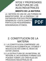 Fundamentos y Propiedades de Manufactura de Los Materiales