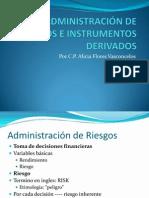 ADMINISTRACIÓN DE RIESGOS E INSTRUMENTOS DERIVADOS