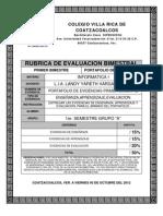 RUBRICAS INFORMATICA1 1BIM
