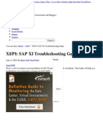PI_ SAP XI Troubleshooting Guide