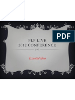 Plp Live. 2012. Key Ideas