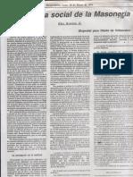 Doctrina social de la Masonería 1995