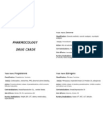 Pharmacology drug cards