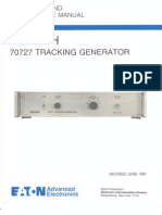 Ailtech 70727 Tracking Generator Operation and Maintenance Manual