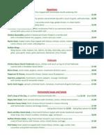 bogey grill menu 1