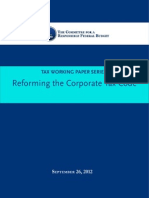 Reforming the Corporate Tax Code