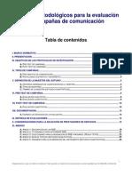 Criterios metodologicos para evaluacion de campañas de comunicacion