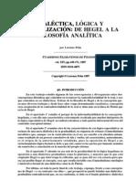 Hegel - Dialectica Logica y Formalizacion
