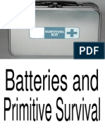 Batteries and Primitive Survival