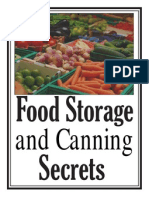 Food Storage and Canning Secrets