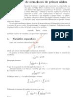 Soluciones de Ecuaciones de Primer Orden