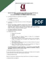 Instructivo Para El Desarrollo Del Documento Del Trabajo de Titulacion o Tesis