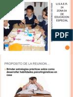 AREA DE COMUNICACIÓN Y LENGUAJE.. REUNION PADRES
