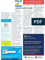 Pharmacy Daily for Tue 02 Oct 2012 - FDA attacks online pharmacy, Endo treatments, Diabetes workshop, Specialist pharmacists and much more...