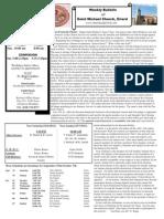 St. Michael's September 30, 2012 Bulletin