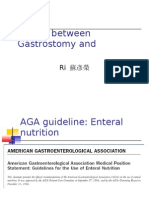 Choice Between Gastrostomy and Jejunostomy