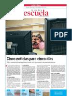 Cinco noticias para cinco días.La Voz de la Escuela.03.10.2012