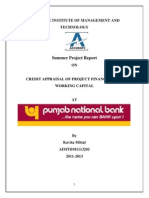 Credit Appraisal of Project Financing and Working Capital