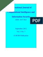 IJCIIS September 2012 Vol. 3 No. 7