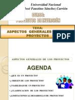 1.- ASPECTOS GENERALES EN FORMULACION DE PROYECTOS DE INVERSION