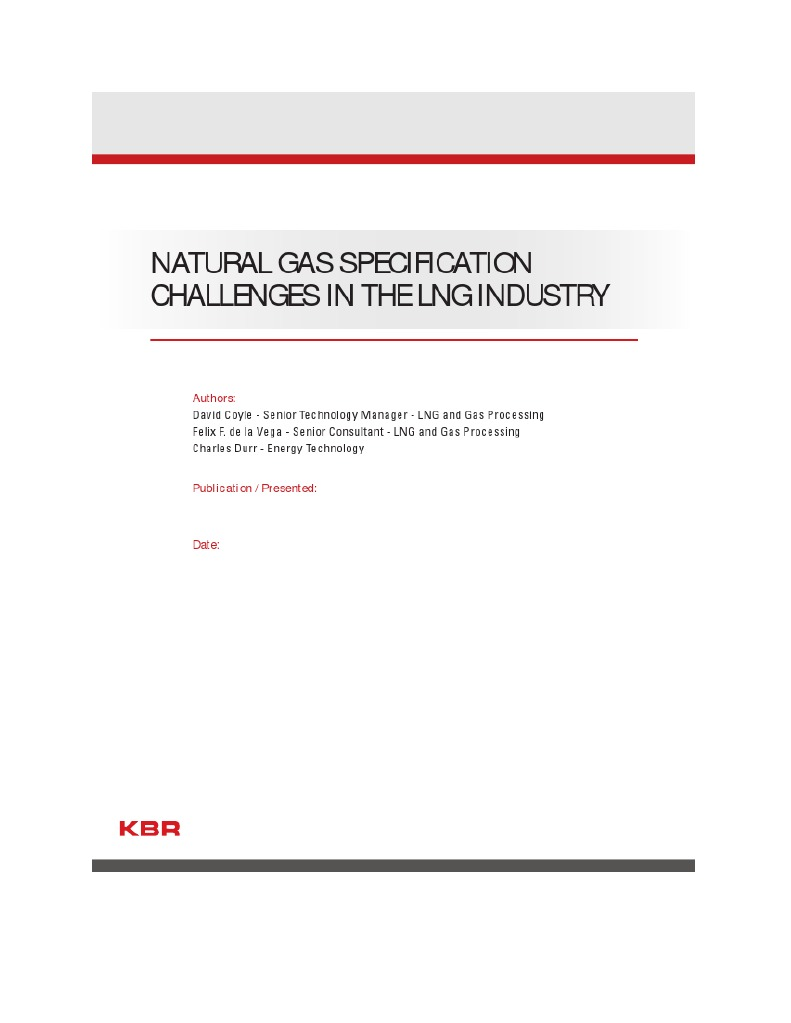 Natural gas specification challenges in the lng industry1 natural gas specification challenges in the lng industry1 liquefied natural gas liquefied petroleum gas pooptronica Image collections