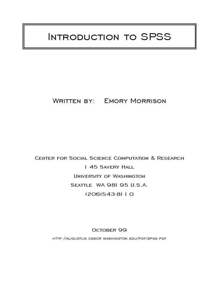 Tutorial spss 20 bahasa indonesia pdf.