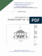 Proposal Pengembangan Masjid Ar Royyan