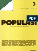 Populasi Volume 3, Nomor 1, Tahun 1992